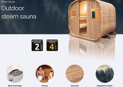 Outdoor Sauna BARREL
