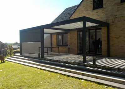 Pergola Bioclimatique Adossée Alu Floors Scandinavia