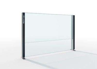 Pare vent verre - aluminium by Alu Floors Scandinavia
