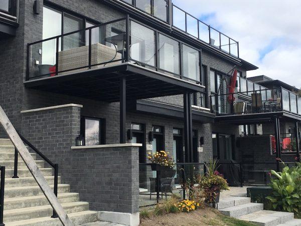 Terrasse suspendue plancher fermé