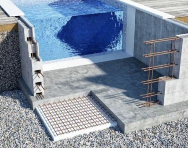 Bloc de construction piscine