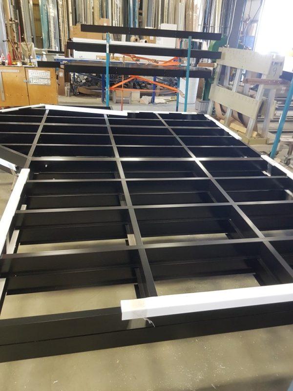 Aluminium structure for balcony and flotable decks
