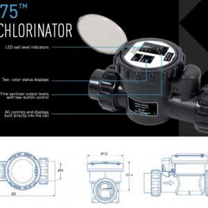 Water treatment, Sta-Rite Chlorination salt SC075 - Max 90m3 pool